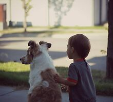 Every dog needs a boy... by Laura-Lise Wong