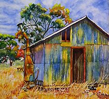 Coomelberrup Hut, Dumbleyung, West Australia by scallyart