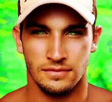 Green Eyed Hunk in Hat by BrianJoseph