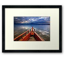 Boat ride in Lake Kerkini Framed Print