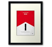No228 My Rush minimal movie poster Framed Print