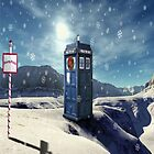 TARDIS at the north pole by WhovianLillie
