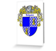 Delgado Coat of Arms/Family Crest Greeting Card