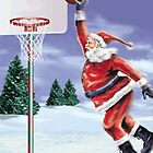 Santa Playing Basketball by WhovianLillie