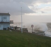 Stormy Seas in Herne Bay  Kent by Keith Larby