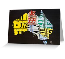 Australia License Plate Map Greeting Card