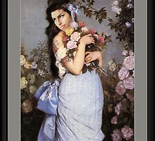Amy Winehouse in a Rose Garden by  Auguste Toulmouche by PrivateVices