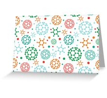 Colorful molecules pattern Greeting Card