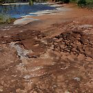 salt left on the edges of the sandstone water pool by gaylene