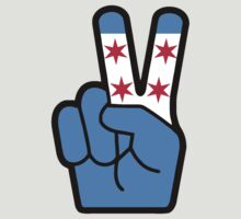 Chicago Flag Peace by DCVisualArts