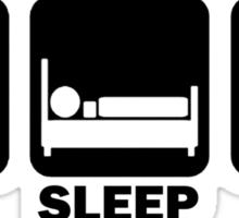 Eat Sleep Run (black) Sticker