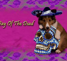 Day Of The Dead Sheltie Puppy by jkartlife