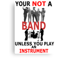 Band Instrument Canvas Print