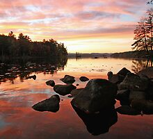 Fall Color - Highland Lake by T.J. Martin