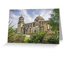 Church at Mission San Jose, San Antonio, Texas, USA Greeting Card
