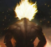 Goku's Aesthetic Back by Tokuchi