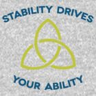 Stability Drives Your Ability (T-Shirt) by typeo