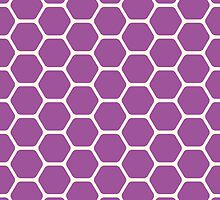 Purple Honeycomb by kwg2200