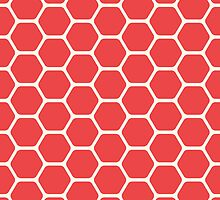 Red Honeycomb by kwg2200