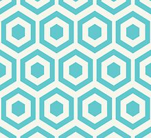Blue Hexagon Honeycomb by kwg2200