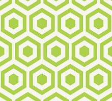 Green Hexagon Honeycomb by kwg2200