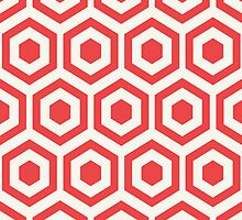 Red Hexagon Honeycomb by kwg2200