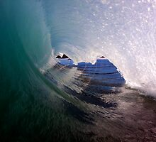 Left Empty Barrel At Hapuna by Vince Gaeta