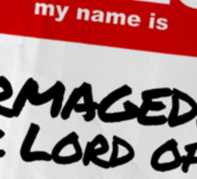 Hello My Name Is Stormaggedon - Doctor Who Sticker