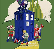 The Munchkins have the Phone Box by WhovianLillie