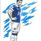 Leighton Baines Sketch by chrisjh2210