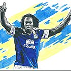 Romelu Lukaku Pencil & Ink Sketch by chrisjh2210