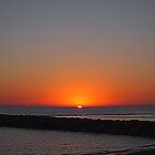 Sunset on the sea by orsinico