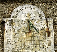 Vertical Sundial, St Buryan Parish Church by Rod Johnson