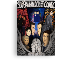SuperWhoLock The Comic Official Poster Canvas Print