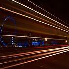 Westminster bridge car lights  by phil21