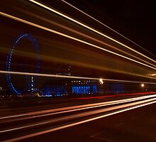 Westminster bridge car lights  by phil21
