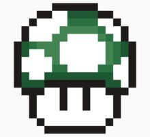 8-Bit 1-Up Mushrooms (Green) by csyz ★ $1.49 stickers