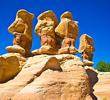 Hoodoos In Devil's Garden Near Escalante Utah by Skip Weeks