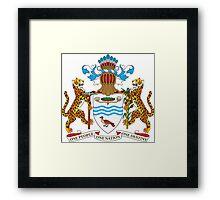 Guyana Coat of Arms  Framed Print