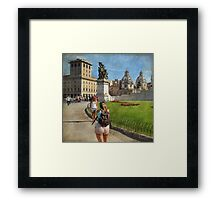 Shooting the shooter! Framed Print