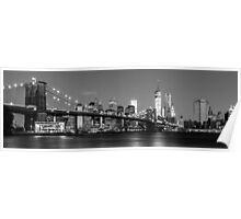Brooklyn Bridge - B&W 2 -  3x1 Poster