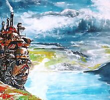 Howl's Moving Castle - Studio Ghibli by Farbenfrei
