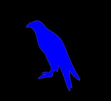 Blue Perched Eagle Silhouette by kwg2200