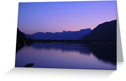 Zell Am See: Lone boat at Dusk by CreativeEm