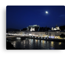 Salzburg Nightscape Canvas Print