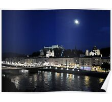 Salzburg Nightscape Poster