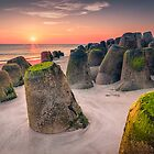 Tetrapods at sunset (Hörnum/Sylt) by Dirk Wiemer