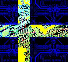 circuit board Sweden (Flag)  by sebmcnulty