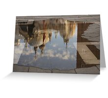 "Acqua Alta or ""High Water"" Reflects St Mark's Cathedral in Venice Greeting Card"
