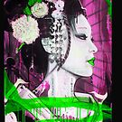 Geisha Phone Case (Pink & Green) by Tim Miklos